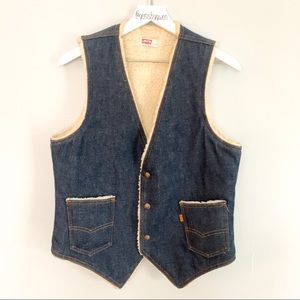 Men's Vintage Levi's Sherpa Vest | Medium